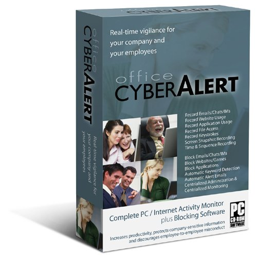 Office Cyber Alert (Version 5.03 CD+Download): Internet Activity Monitoring & Keylogger & PC Monitoring & Chat Monitoring. Monitor your business and home PC & Internet activities. BUY THE LATEST EDITION DIRECTLY FROM THE MAKER OF THE SOFTWARE. GET LATEST UPDATES & PREMIUM SUPPORT. FREE SHIPPING. 4-user license included - Web Filter Software