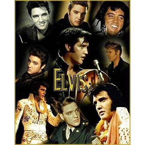 - DIY 5D Diamond Painting by Number Kits,Crystal Rhinestone Diamond Embroidery Paintings Pictures Arts Craft for Home Wall Decor,Full Drill,Rock Star Elvis Presley,11.8x15.8in