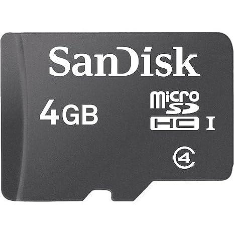 SanDisk SDSDQM-004G-B35 4 GB Class 4 MicroSDHC Card (Label May ...