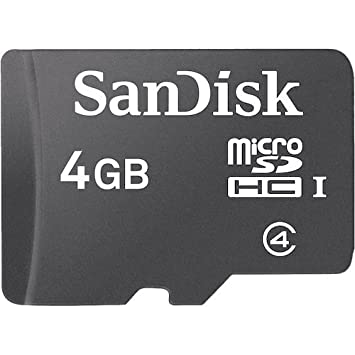 SanDisk SDSDQM-004G-B35 4 GB Class 4 MicroSDHC Card (Label May Change)