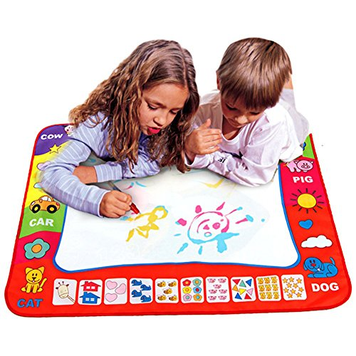 Magic Water Drawing Mat, Alotm Kids' Doodle Painting Pad with 2 Water Pens for Kids Educational Toys Boys Girls Chrismas Birthday Gift - 31.5'' X - Wash Mr Brain