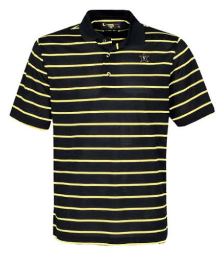 eddc36a2 Amazon.com : NCAA Men's Vanderbilt Commodores Feed Stripe Polo ...