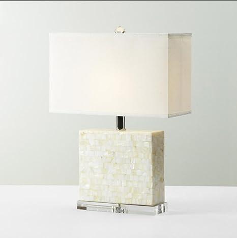 Lámparas rural blanco Lámpara de mesa de casquillos salón ...