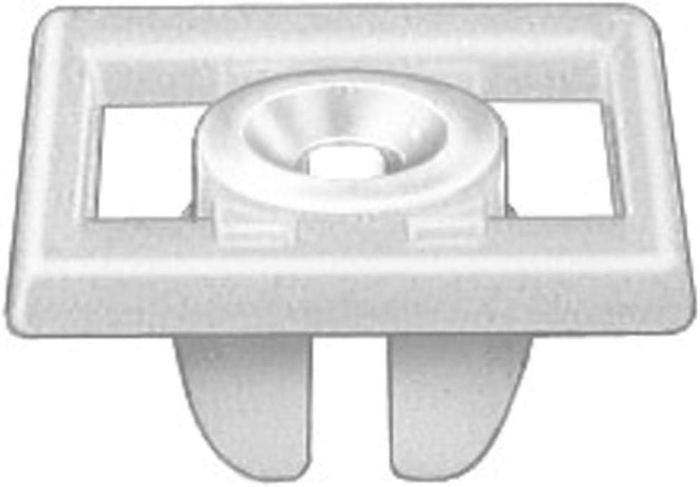 100 PIECES License Plate Nylon White Inserts UNIVERSAL #14