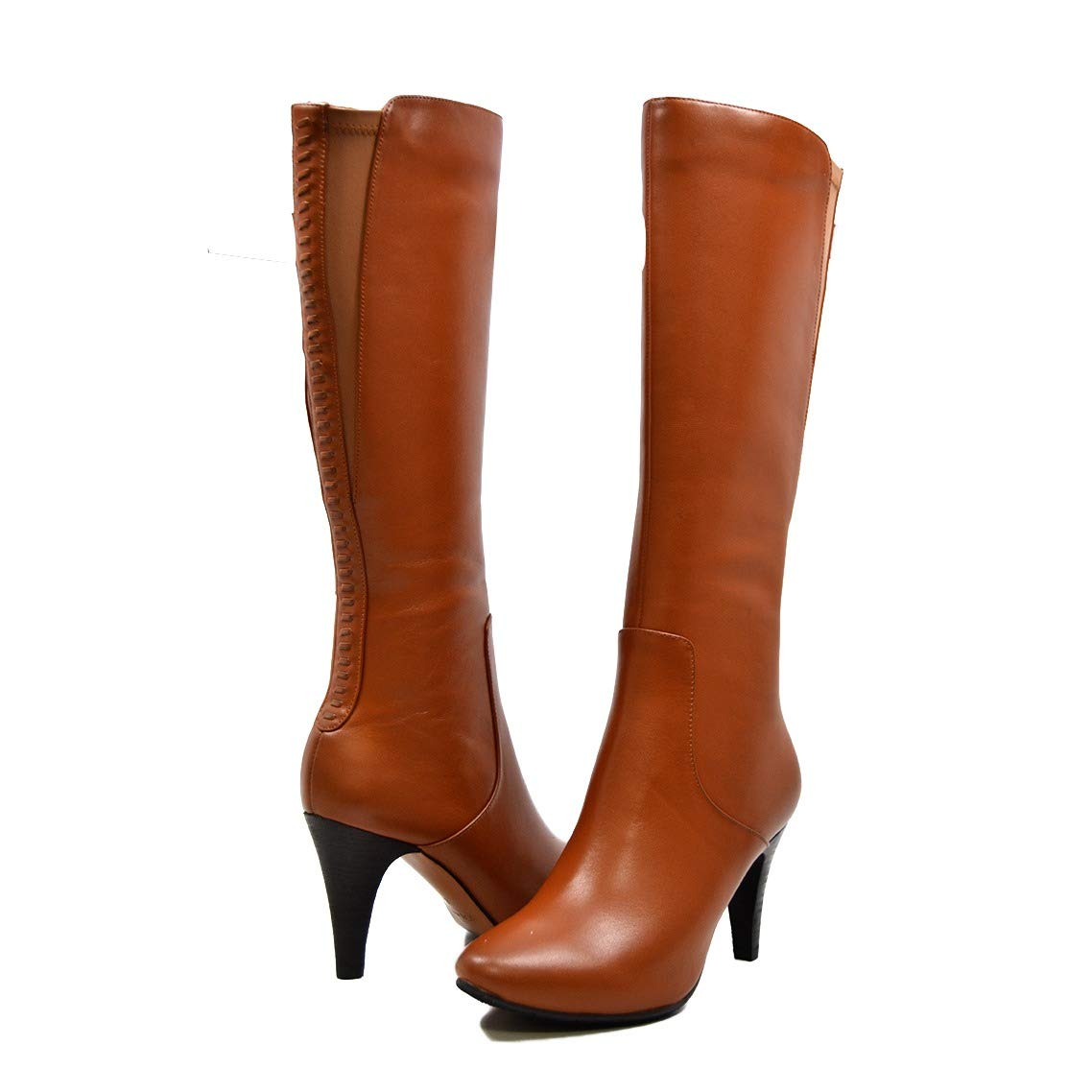 2d04205aa9 SoleMani Women's Slim Calf Paradise Cognac Leather Boot 11: Amazon.co.uk:  Shoes & Bags