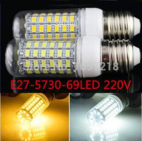 YalinGE 1pcs 2014 New High Bright 15W Wall LED Lamps E27E14 G9 GU10 69 LEDs 220V 5730 SMD Corn LED Bulb Ceiling Light