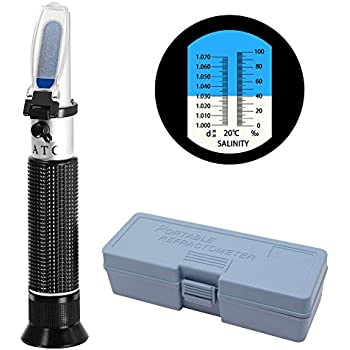 Amazon Com Cocode Refractometer Salinity Atc Hydrometer Aquarium Dual Scale Optical