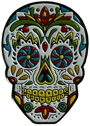 Be The Ball 4U PinwellEyes Dia De Los Muertos Cool Skull Mask Designs Dawn of the Dead Golf Ball Marker and Matching Red Rose Hat Clip -