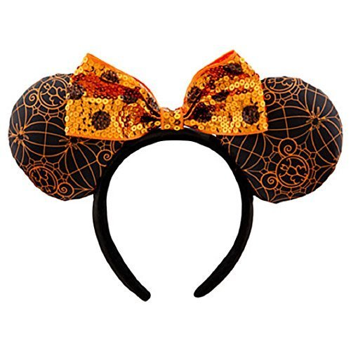 Disney Minnie Mouse Ears Headband Halloween Orange Black