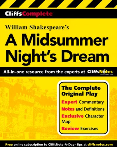 CliffsComplete A Midsummer Night's Dream (Cliffs Complete Study Editions)