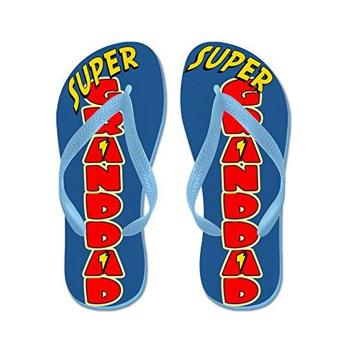 Cafepress Super Farfar Flip Flops - Flip Flops, Roliga Rem Sandaler, Strand Sandaler Caribbean Blue
