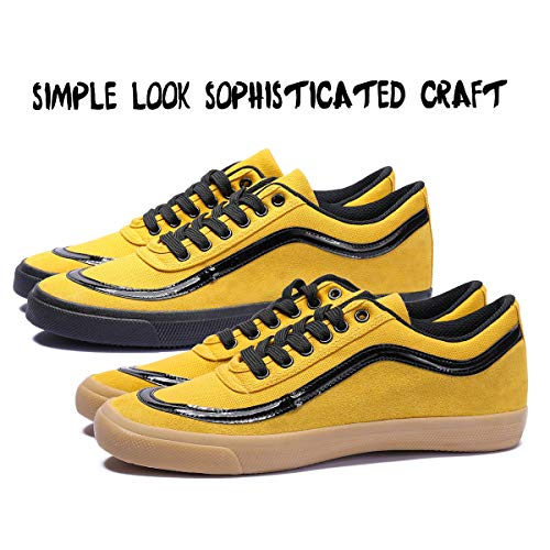 DOUBLESTAR MR Burce Lee Commemorative Edition Stylish Suede Low Top Slip On Lightweight Parkour Kung fu Running Walking Oxford Training Skate Pure Action Sport Casual Fitness Athletic Sneaker ()