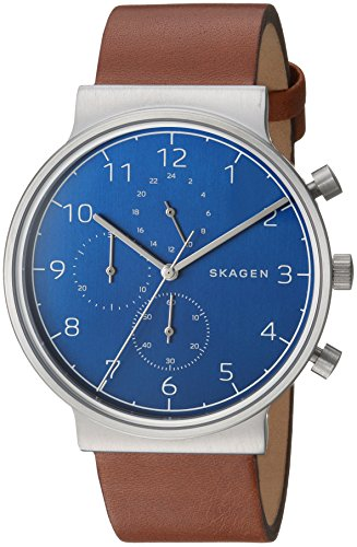 Skagen  Men's  SKW6358 Ancher Brown Leather Chronograph Watch