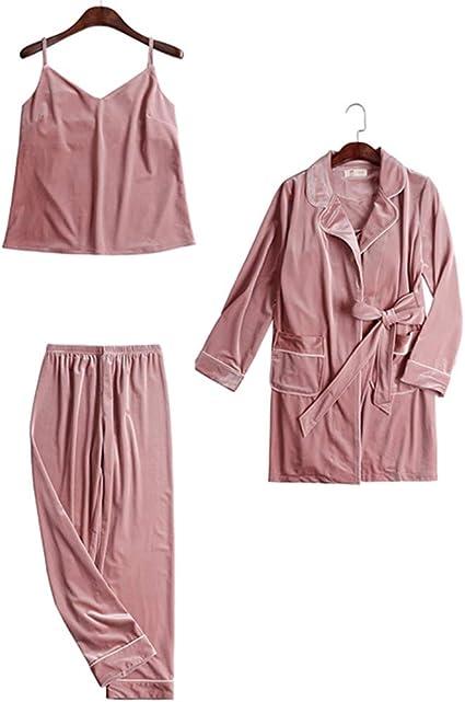 ASDFGG-hm Pijama de Mujer Salón Suave algodón Establece ...