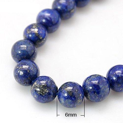 8 Inch Strand Of Genuine 100% Lapis Lazuli 6mm Rounds (30+ Beads) HA02332 Something Crafty Ltd