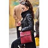 Burgundy Leather Handmade Messenger Bag