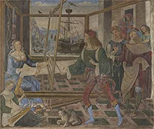 Oil painting 'Pintoricchio Penelope with the Suitors ' printing on high quality polyster Canvas , 16 x 19 inch / 41 x 49 cm ,the best Home Office artwork and Home artwork and Gifts is this High quality Art Decorative Canvas Prints