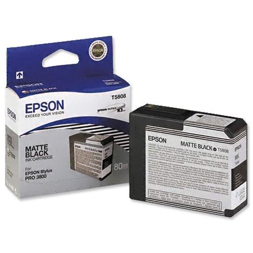 Epson T5808 UltraChrome K3 Matte Black Cartridge ()