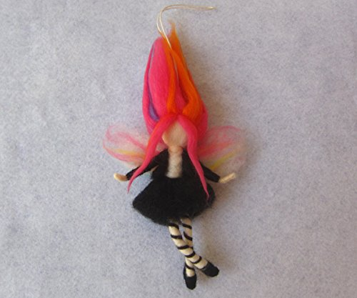 Needle Felted Whimsical Fairy Doll For Home Decor Or Girl Nursery, Fantasy Figurine Art Doll -