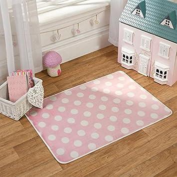 Flair Rugs Teppich Gepunktet Pink Weiss Madchen
