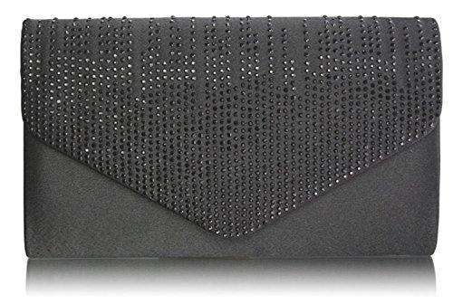 Over Designer Bag Evening Quality Design E0070 Cwe00299 Diamante Clutch Ladies Party Black Fashion Purse Women's Cwe0070 Flap Upqwp8A