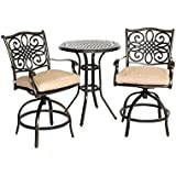 Hanover Traditions 3 Piece High Dining Bistro Set