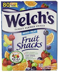 Welch's Mixed Fruit Snacks, 0.9 oz., 80-Count