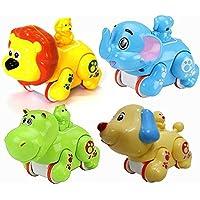 Jiada Press and Crawl Infant Toys - Premium Quality - Set of 4 Toys