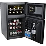 Kalorik Beer & Wine Cooler (Kalorik Black 2-in-1 Mini-Fridge and Wine Cooler)