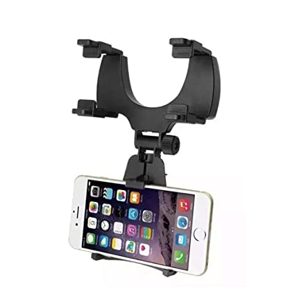 PIXNOR Soporte de espejo retrovisor Soporte Cuna para celular GPS universal