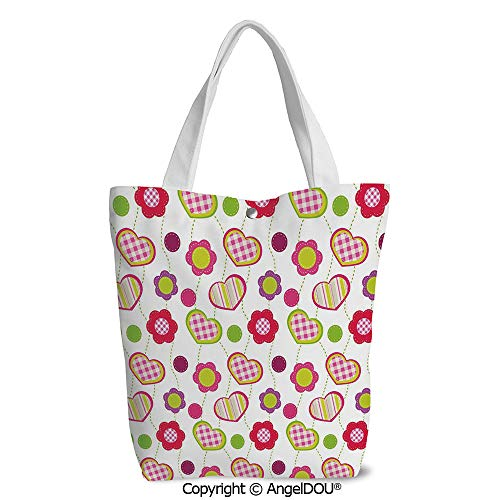 Canvas Shoulder Bags for Women girls student Patchwork Inspired Design Colorful