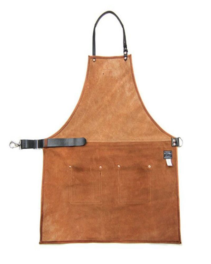 VAHOME Waxed Canvas Heavy Duty Work Apron with Pockets Painting Home Shop Kitchen Cooking Garden Tool Apron for Men and Women