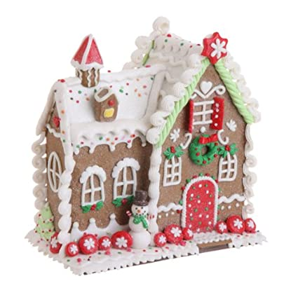 RAZ Imports - Multicolored Gingerbread House 8