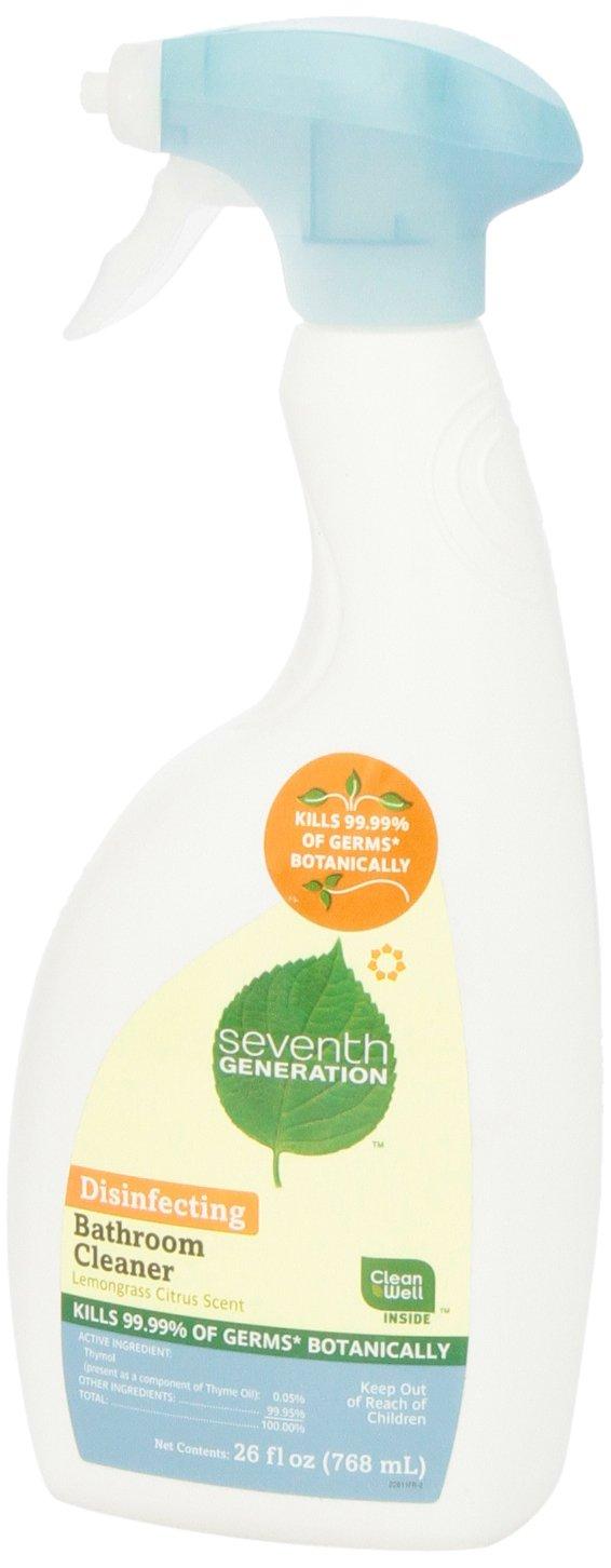 Seventh Generation Disinfecting Bathroom Cleaner, Lemongrass Citrus Scent, 26 oz
