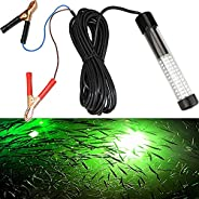 Lightingsky 12V 10.8W 180 LEDs 1080 Lumens LED Submersible Fishing Light with 5m Cord