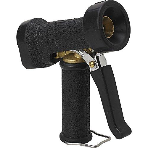 Adjustable Nozzle Trigger - Vikan 93249 Black Polypropylene/Stainless Steel Adjustable Spray Nozzle, Front Trigger Body