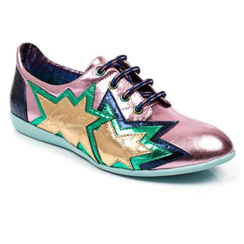 Choice de de Cordones Zapatos Mujer Pink Irregular Multi Sintético para dw7qCISn