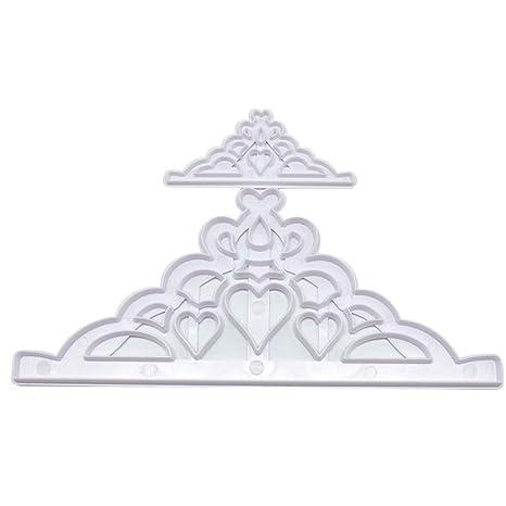 Bigfamily 2pcs \/ set de troqueles de bricolaje manualidades parte triangulo molde molde corona de