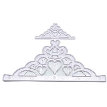 Bigfamily 2pcs \/ set de troqueles de bricolaje manualidades parte triangulo molde molde corona de cocina utensilios de pasteleria: Amazon.es: Bricolaje y ...