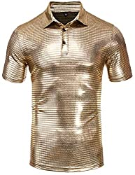 Men's Polo Sequins Short Sleeve T-Shirts