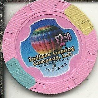 $2.50 indiana gaming casino chip lawrenceburg indiana