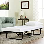BestMassage Roll Away Folding Guest Bed Frame with 4 Inch Comfort Foam Mattress,Twin size