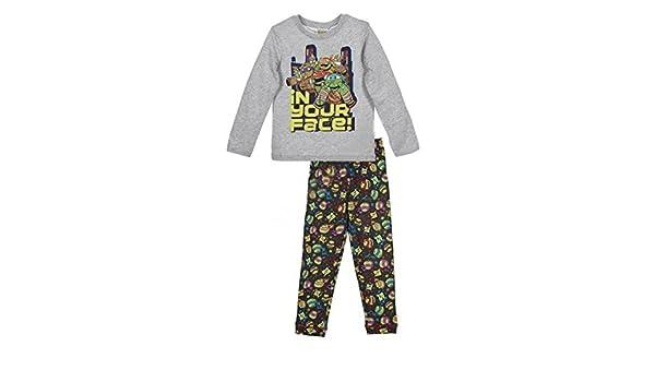 Pijama TORTUGAS NINJA Niño Manga Larga GRIS (6 AÑOS): Amazon ...