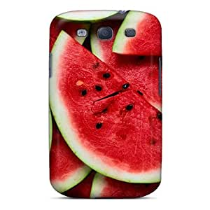 DIskzdF11032HzURk Case Cover Food Fruits And Berryes Watermelon Slices Galaxy S3 Protective Case