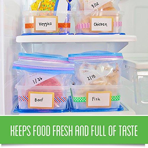 Ziploc Freezer Bags, Quart, 3 Pack, 38ct