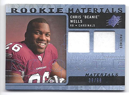 - CHRIS BEANIE WELLS 2009 SPX Rookie Materials #RMCW Dual Swatch Patch Parallel DUAL JERSEY PATCH Rookie Card RC #38 of only 99 Made! Arizona Cardinals Football