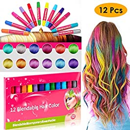 A Box of 12Pc12 Color Disposable Temporary Hair Coloring Crayons Hair Dye Pen for 4th of July Gifts Onsale