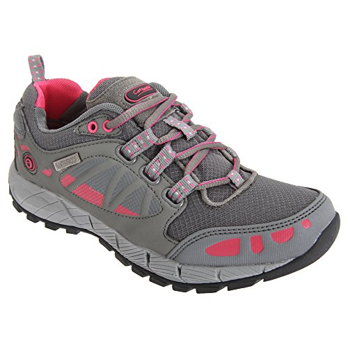 Cotswold Womens/Ladies Pitchcombe Waterproof Walking Hiking Shoes Grey / Pink