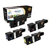 Catch Supplies Replacement High Yield 4 Pack Toner Set for the Dell E525W Series  1 Black 593-BBJX, 1 Cyan 593-BBJU, 1 Magenta 593-BBJV, 1 Yellow 593-BBJW 