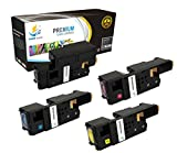 Catch Supplies Replacement High Yield 4 Pack Toner Set for the Dell E525W Series |1 Black 593-BBJX, 1 Cyan 593-BBJU, 1 Magenta 593-BBJV, 1 Yellow 593-BBJW|